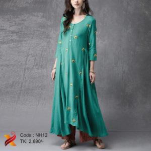 Lilen Embroidered Kurti