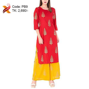 Red Long Kurti