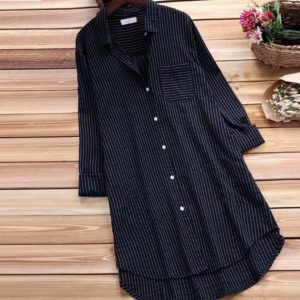 Striped Navy Blue Shirt